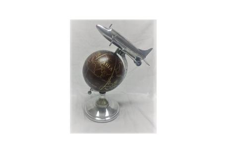 Mappamondo da tavolo in acciaio con aeroplano vendita for Mappamondo da arredo