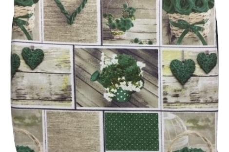 Cuscini con fiori e cuori verdi cuscini per le sedie da for Sedie cucina vendita online